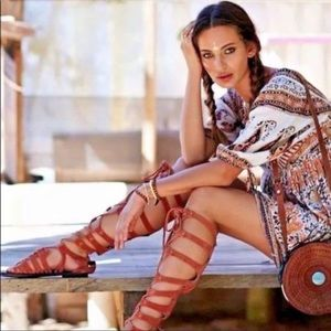 Free People 🌸 Cypress Knee High Gladiator Sandals